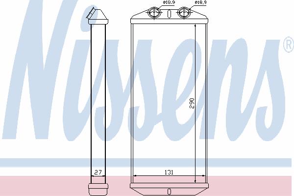Радиатор отопителя NISSENS 71158