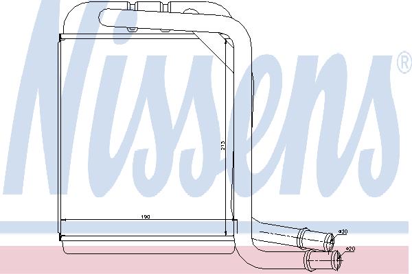 Радиатор отопителя NISSENS 73976