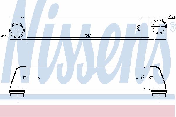 Интеркулер NISSENS 96607