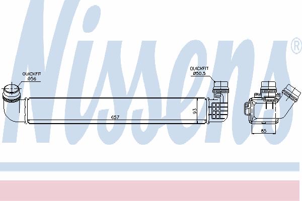 Интеркулер NISSENS 96569