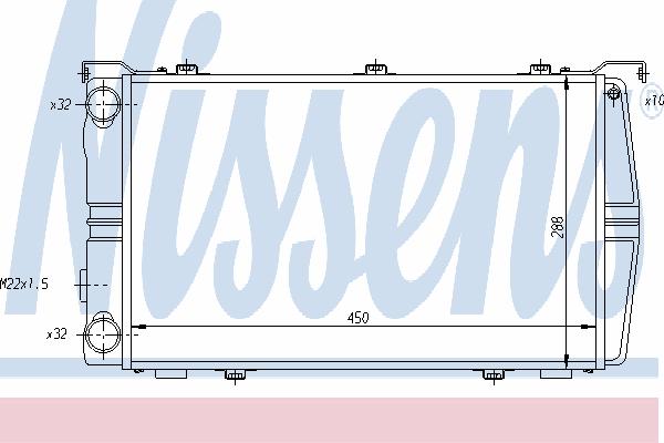 Радиатор, охлаждение двигателя NISSENS 649971