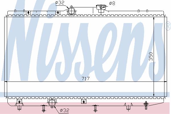 Радиатор, охлаждение двигателя NISSENS 648321