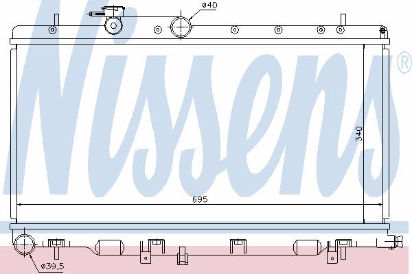 Радиатор, охлаждение двигателя NISSENS 67708