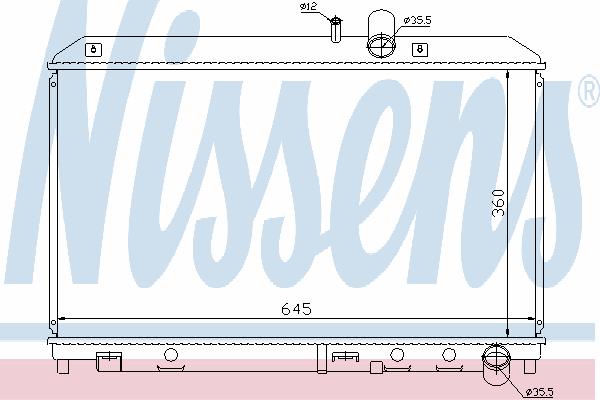 Радиатор, охлаждение двигателя NISSENS 62458