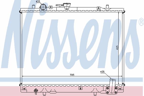 Радиатор, охлаждение двигателя NISSENS 62892