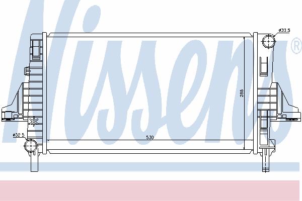 Радиатор, охлаждение двигателя NISSENS 66698