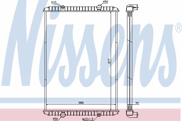 Радиатор, охлаждение двигателя NISSENS 637750