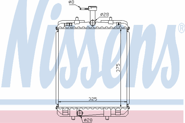 Радиатор, охлаждение двигателя NISSENS 64685