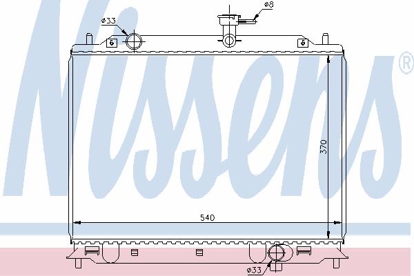 Радиатор, охлаждение двигателя NISSENS 66666