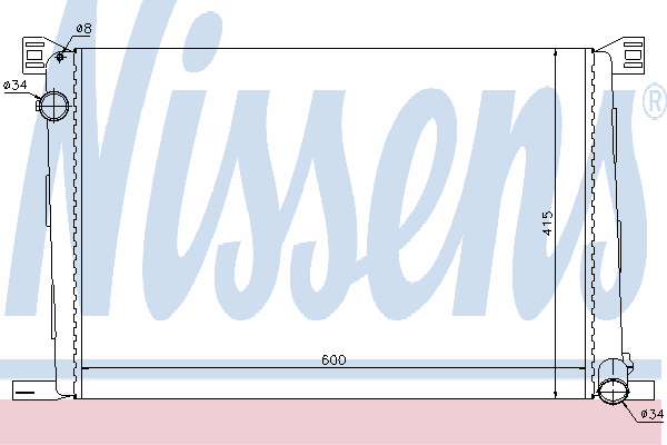 Радиатор, охлаждение двигателя NISSENS 69706