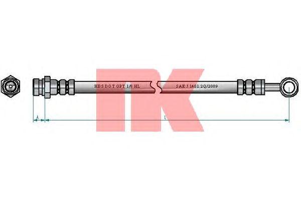 Тормозной шланг NK 853491