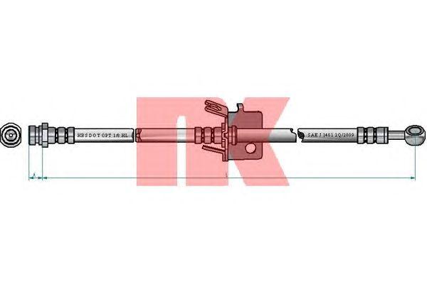 Тормозной шланг NK 853497