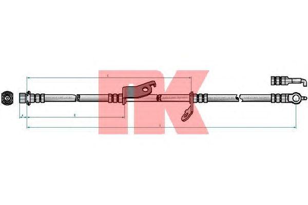 Тормозной шланг NK 8545175
