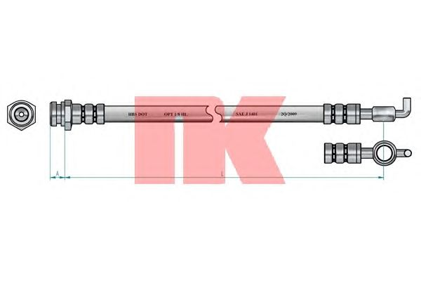 Тормозной шланг NK 853215