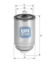 Топливный фильтр UFI 24.439.00