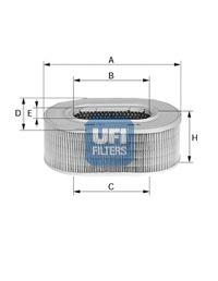 Воздушный фильтр UFI 27.258.00