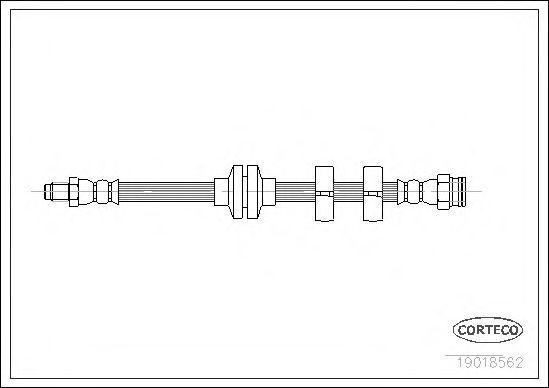 Тормозной шланг CORTECO 19018562