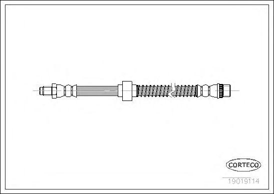 Тормозной шланг CORTECO 19019114