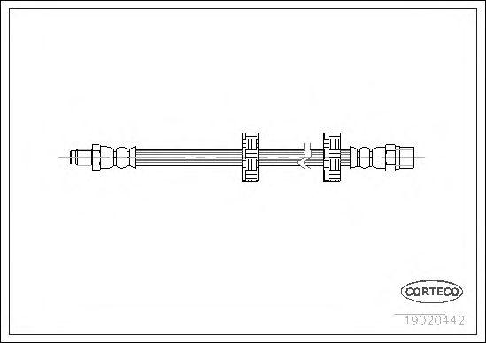 Тормозной шланг CORTECO 19020442