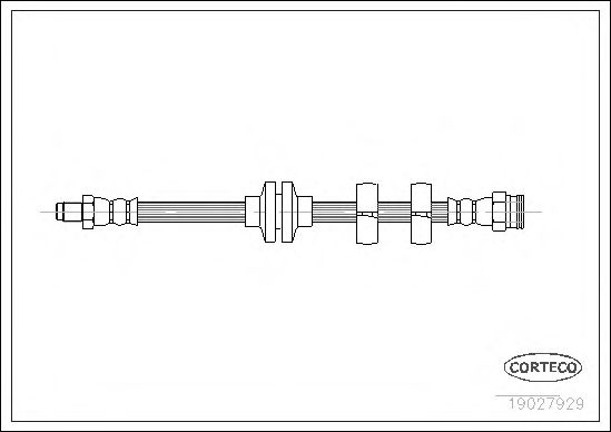 Тормозной шланг CORTECO 19027929