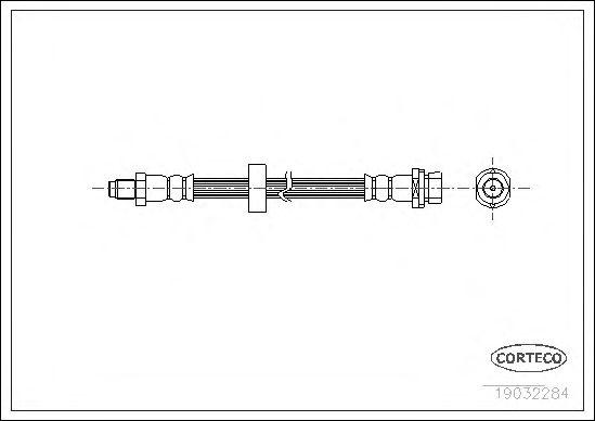 Тормозной шланг CORTECO 19032284