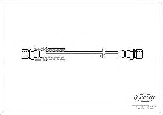 Тормозной шланг CORTECO 19032832