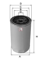 Масляный фильтр SOFIMA S 3291 R