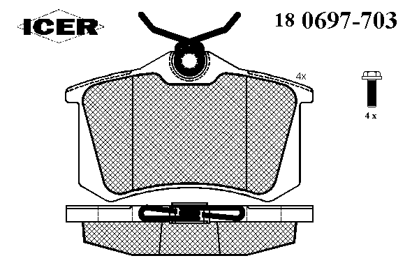 Тормозные колодки ICER 180697-703
