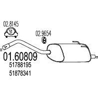 Глушитель MTS 01.60809