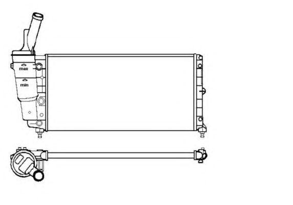 Радиатор, охлаждение двигателя NRF 53226