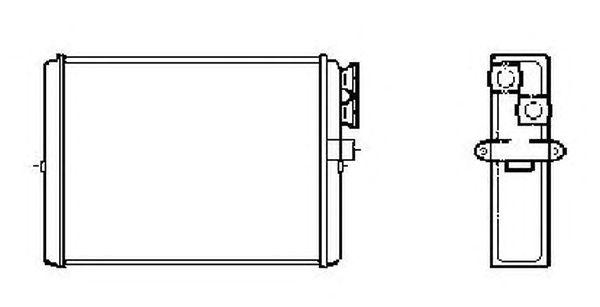 Радиатор отопителя NRF 53559