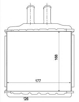 Радиатор отопителя NRF 54270