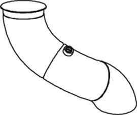 Труба выхлопного газа DINEX 68626