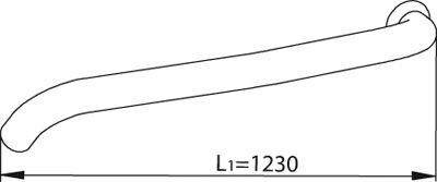 Труба выхлопного газа DINEX 82602