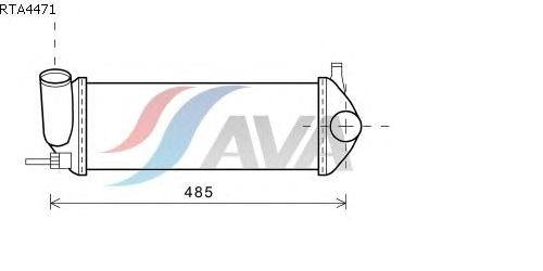 Интеркулер AVA QUALITY COOLING RTA4471