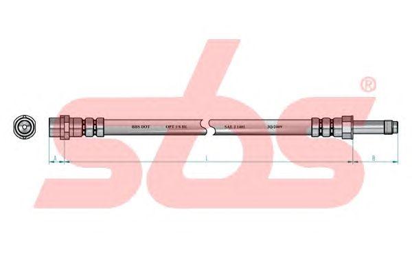 Тормозной шланг sbs 1330853356