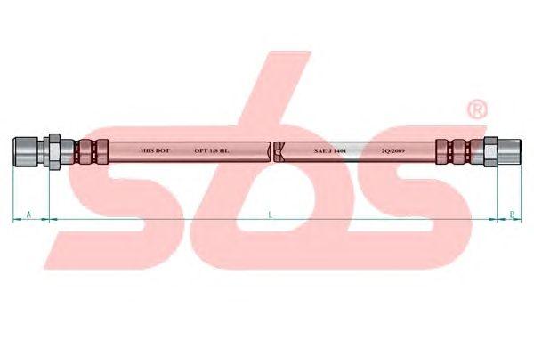 Тормозной шланг sbs 13308547121