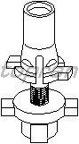 Кронштейн, основная фара TOPRAN 102 941
