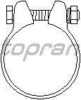Соединительные элементы, система выпуска TOPRAN 102 751