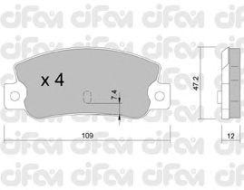 Тормозные колодки CIFAM 822-035-0