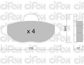 Тормозные колодки CIFAM 822-137-0