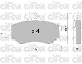 Тормозные колодки CIFAM 822-148-2