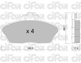 Тормозные колодки CIFAM 822-174-1