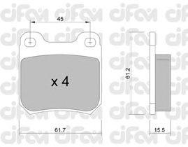 Тормозные колодки CIFAM 822-275-0