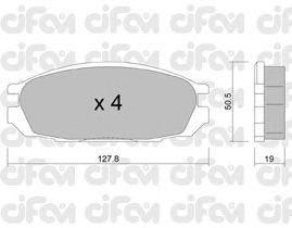 Тормозные колодки CIFAM 822-409-0