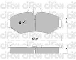 Тормозные колодки CIFAM 822-572-0