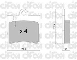 Тормозные колодки CIFAM 822-597-0
