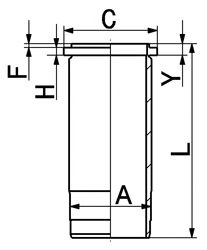 Гильза цилиндра KOLBENSCHMIDT 89016110