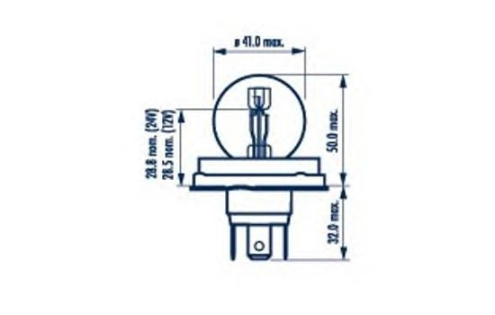 Лампа накаливания NARVA 49321 (фара дальнего света, основная фара)