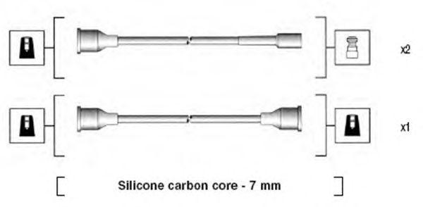 Комплект высоковольтных проводов MAGNETI MARELLI 941094040575